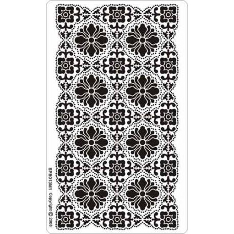 Siesta grille parchemin fond de carte 8x14cm SPB013M