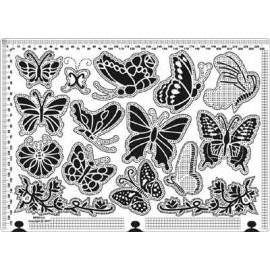 Siesta grille parchemin papillons 25x18cm SPB014L