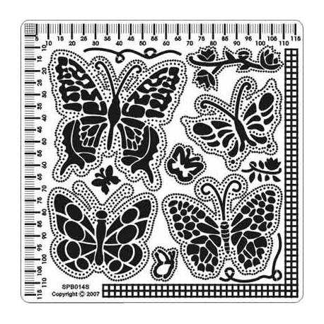 Siesta grille parchemin papillons 12x12cm SPB014S