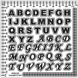 Siesta grille parchemin alphabet 12x12cm SPB015S