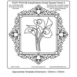 Template parchemin cadre carré arum