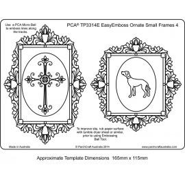 Template parchemin 2 cadres carré chien ovale croix