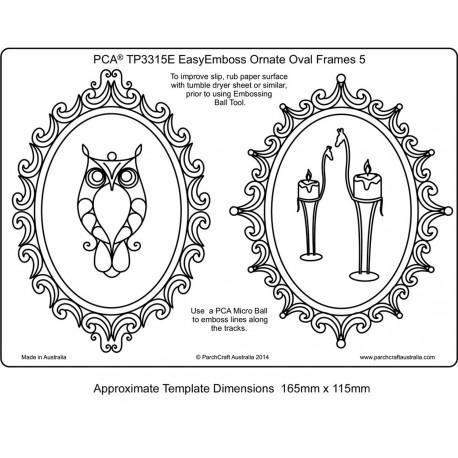 Template parchemin 2 cadres ornement ovale 5