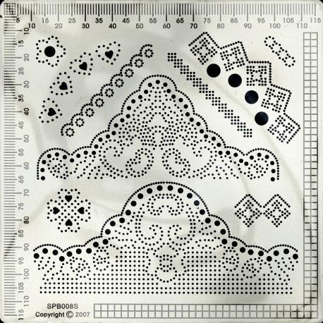 Grille parchemin Siesta petite + tapis 12x12cm SPB008S