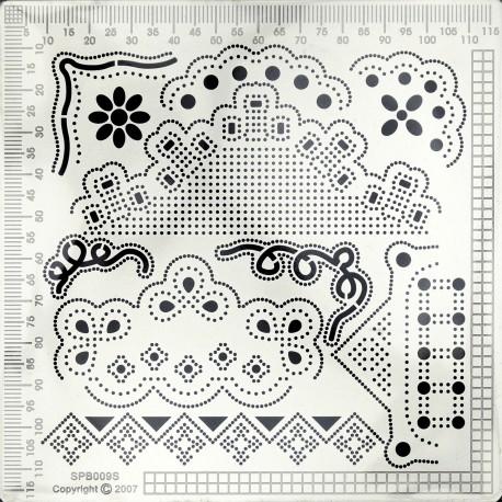 Grille parchemin Siesta petite + tapis 12x12cm SPB009S