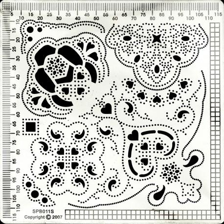 Grille parchemin Siesta petite + tapis 12x12cm SPB011S