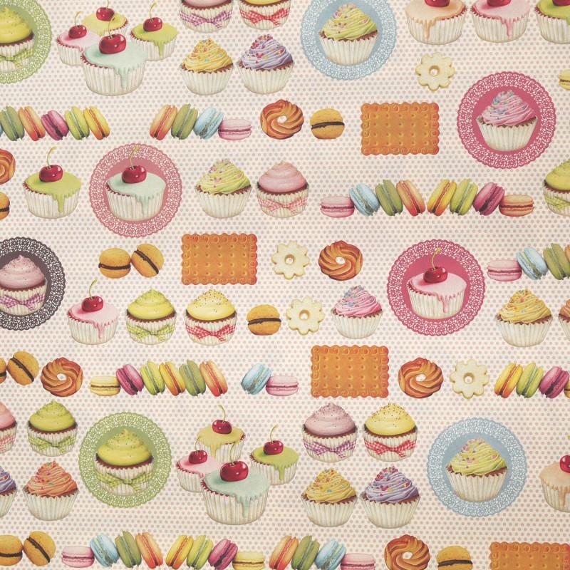 Papier italien tassotti pour cartonnage motifs patisserie - Serviette en papier motif ...