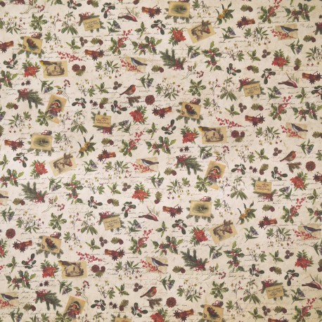 Papier tassotti motifs fleurs de noël