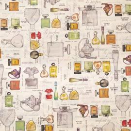 Papier tassotti motifs flacons de parfum