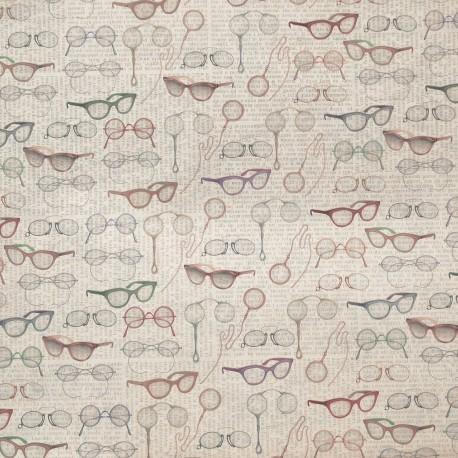 Papier tassotti motifs lunettes