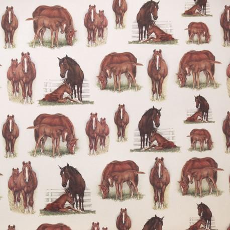 Papier tassotti motifs chevaux
