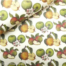 Papier tassotti à motifs pomme