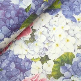 Papier tassotti motifs hortensia
