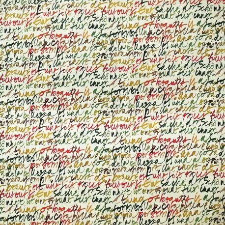 Papier tassotti motifs écritures modernes