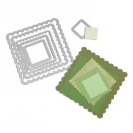 Dies de découpe matrice Sizzix carré dentelé 6 dies