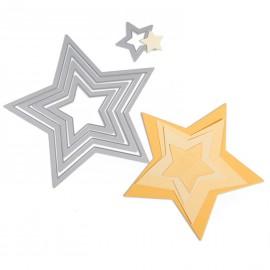 Dies de découpe matrice Sizzix étoile 5 dies