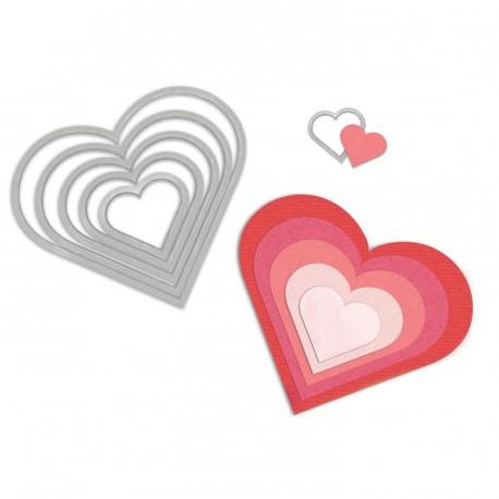 Dies de découpe matrice Sizzix coeur 6 dies