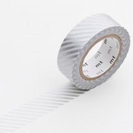 Masking tape rayé argent ruban papier adhésif washi