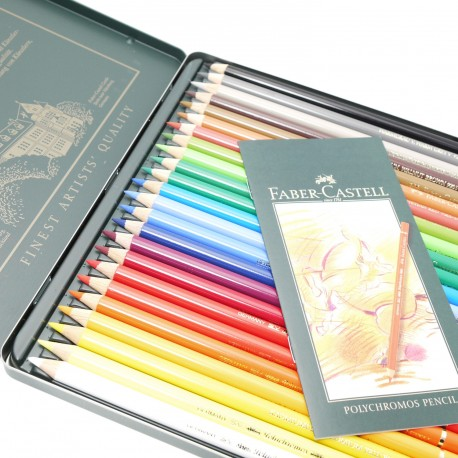 Crayons Faber Castell polychromos boite métal 24 crayons