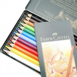 Crayons Faber Castell polychromos boite métal 12 crayons