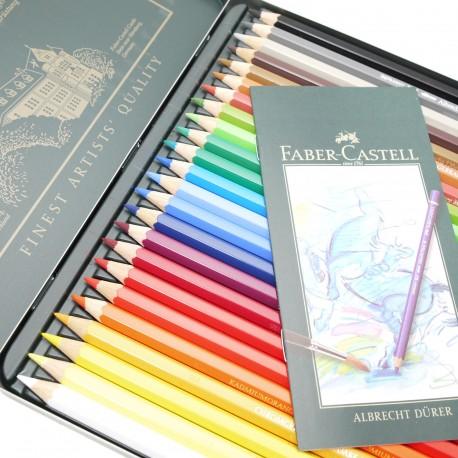 Crayons Faber Castell aquarellables Albrecht Dürer boite métal 24 crayons
