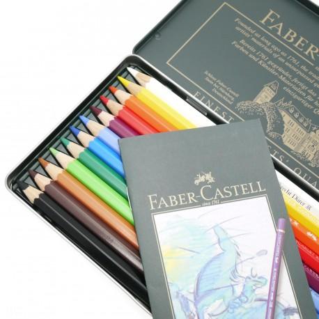 Crayons Faber Castell aquarellables Albrecht Dürer boite métal 12 crayons
