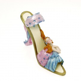 Chaussure miniature de collection horoscope vierge