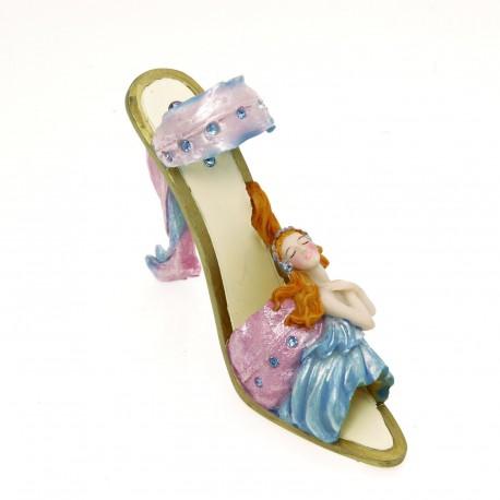 Chaussure miniature de collection horoscope vierge