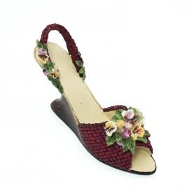 Chaussure miniature de collection anémone