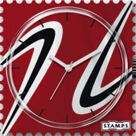 Montre Stamps cadran de montre red athletic urban