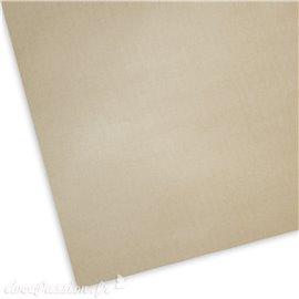 Papier uni picot beige