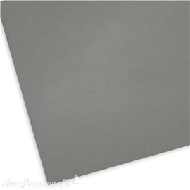 Papier uni picot gris