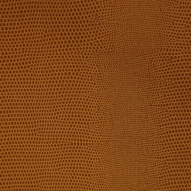 Papier Skivertex simili cuir lézard caramel