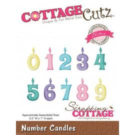Dies découpe gaufrage matrice CottageCutz bougies d'anniversaire
