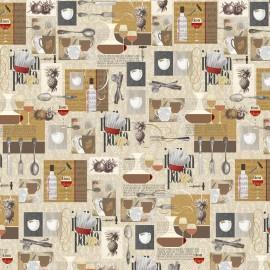 Papier motifs cuisine