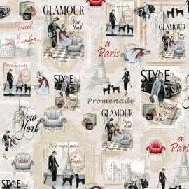 Papier italien motifs mode glamour