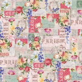 Papier italien motifs fleurs