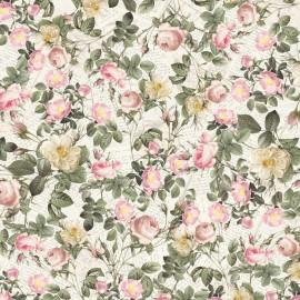 Papier italien motifs roses anglaises