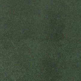 Papier simili cuir lézard métallique vert