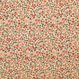 Papier italien motifs semis de fleurs liberty rouge