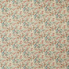Papier italien motifs semis de fleurs liberty bleu et rouge