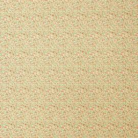 Papier italien motifs semis de fleurs liberty rouge orange