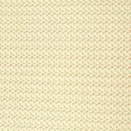 Papier italien motifs semis de fleurs liberty rose et orange