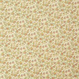 Papier italien motifs semis de fleurs liberty orange et jaune