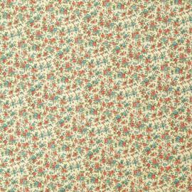 Papier italien motifs semis de fleurs liberty rouge et bleu
