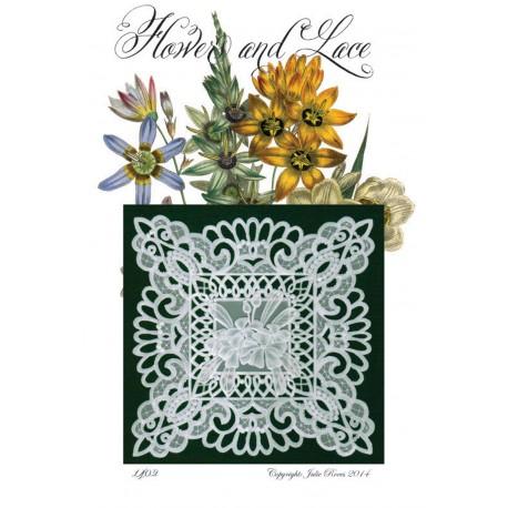 Modèles Julie Roces patron Pergamano Flower and Lace pattern 1402