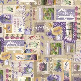 Papier italien motifs fleurs de lavande