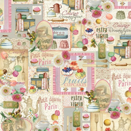 Papier italien motifs patisserie