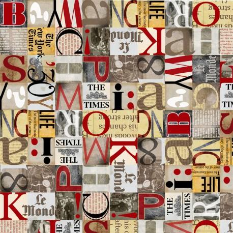 Papier italien motifs journal alphabet