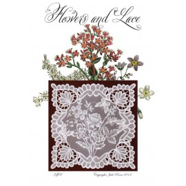 Modèles Julie Roces patron Pergamano Flower and Lace pattern 1401